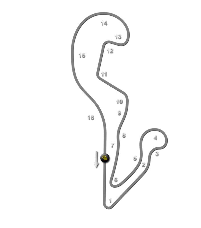 Atlanta Motorsports Park Track Guide Map
