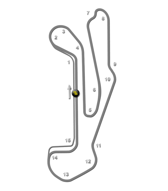BARBER MOTORSPORTS PARK TRACK GUIDE MAP