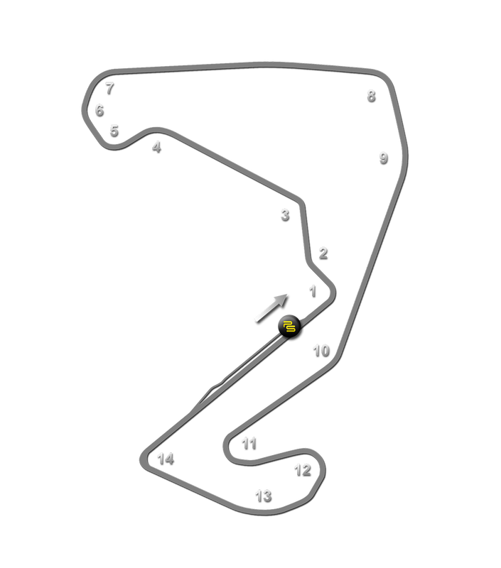 Carolina Motorsports Park Track Guide Map