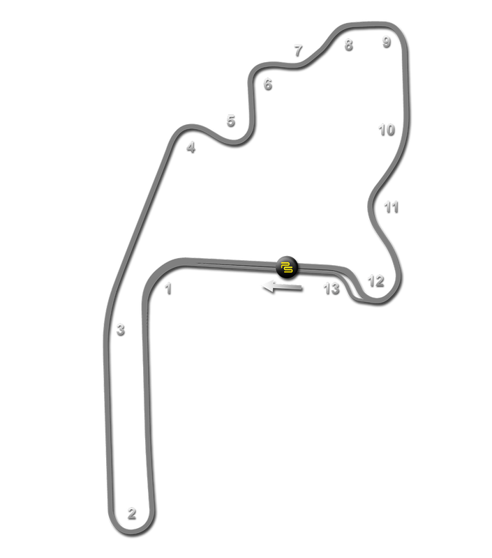Mid-Ohio Track Guide Map